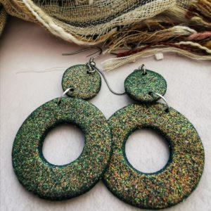 Kleivimy Green Glitter Earrings