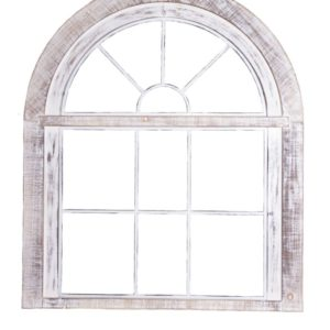 Wooden And Metal Window Frame Wall Art