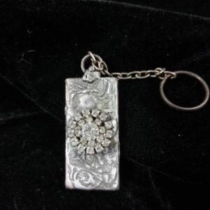 Key Ring – Antique Rectangular Metal