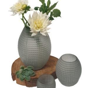 Grey Frosted Large Vase