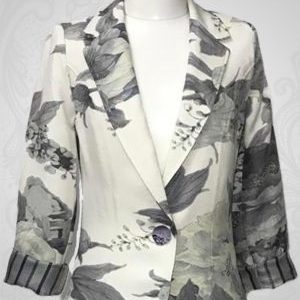 Grey Flower Jacket