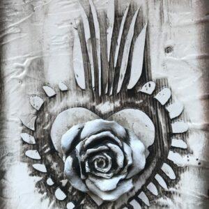 Blokk Tile White – Floral Heart