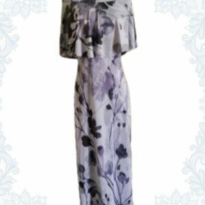 Classic Grey Bardot Dress