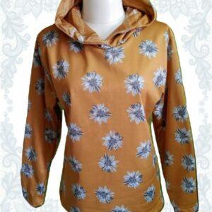 Mustard Flowers Hoodie (Women)