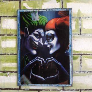 Joker Heart Harley Poster