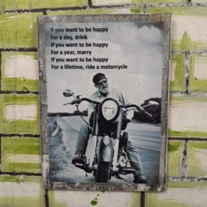 Happiness Is Riding A Motorcycle Poster