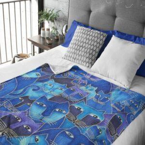 Blue Kittens Fleece Blanket