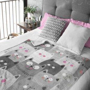 Happy Kittens Fleece Blanket