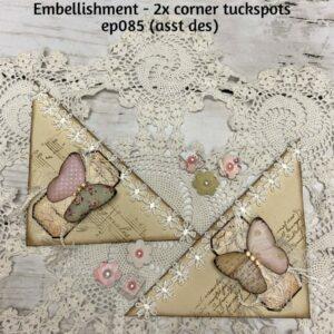 Embellishment – 2x Corner Tuckspots