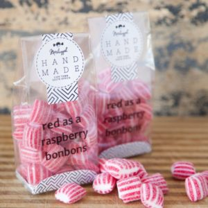 Raspberry Bonbons. 100g. Gorgeous Red Nuggets Bursting With Flavour.