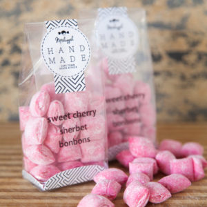 Cherry Sherbet Bonbons 100g. Nuggets Of Sweet Delight!