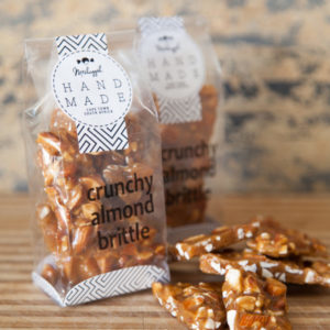 Almond Brittle (Crunchy Butterscotch Brittle Bursting With Almonds) 100g. An Impeccable Product!