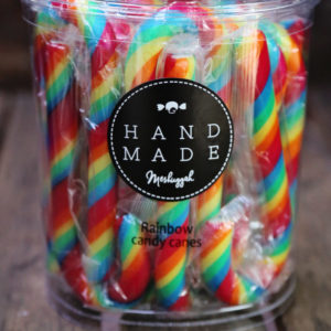 Candy Cane – Traditional Fruity Rainbow (Large) Tub Of 20. Old Fashioned Brilliance!