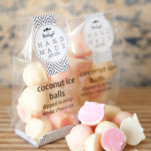 Coconut Ice Balls Dipped In Milky White Chocolate. 100g Of Unique & Sheer Indulgent Coconut Ice As You Have Never Experienced Before!