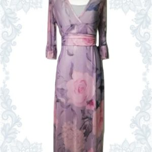 Pink & Grey Empire Dress