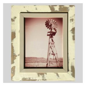 Distressed Frame: Windpomp Close Up Sepia