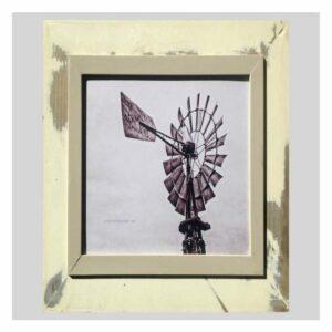 Distressed Frame: Windpomp Swart En Wit