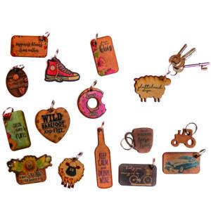 Bespoke Wooden Key RIngs