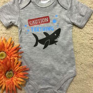 Baby Onesie – Caution Teething
