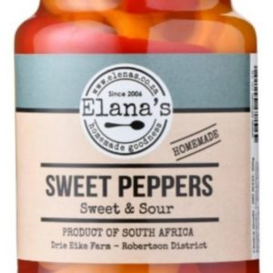 Elana's Homemade Sweet & Sour Pickled Peppers 400g