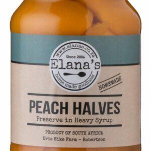 Elana's Homemade Peach Halves In Syrup 1 Litre