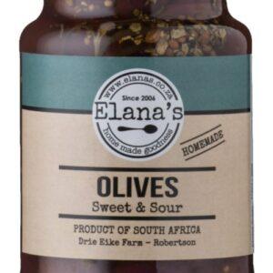 Elana's Homemade Sweet & Sour Olives 400g