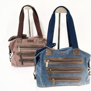 Cotton Road 3 Zip Jean & Leather Hand Bag