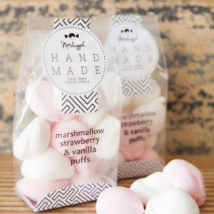 Pink & White Marshmallow Puffs – 120g (Strawberry & Vanilla). Soft Round Clouds Of Melt-in-your-mouth Deliciousness.