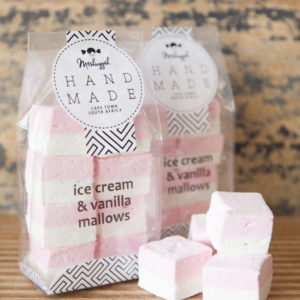 Ice-Cream & Vanilla Double Layered Marshmallow Squares – 160g (8 X Double Mallows In A Bag). Double The Flavour, Double The Deliciousness.
