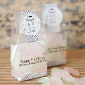 "Sugar Free Drops – Apple Blossom & Kiwi 100g. Old Fashioned ""Citrus Wedge"" Shapes Of Botanical Deliciousness!"