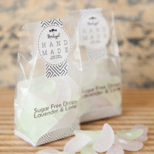 "Sugar Free Drops -Lavender & Lime 100g. Old Fashioned ""citrus Wedge"" Shaped Of Botanical Deliciousness!"