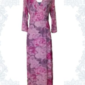 Pink Roses Empire Dress