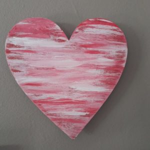 Wooden Heart – Painted