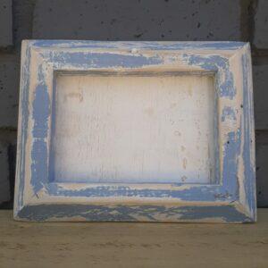 Wooden Frame – Whitewashed Blue