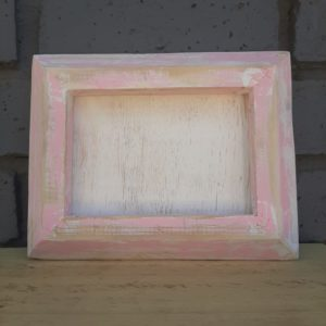 Wooden Frame – Whitewashed Pink