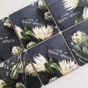 Protea Coasters Set Of 6 (Made In SA)
