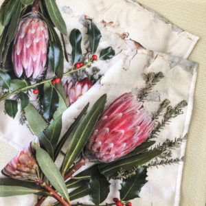 Protea Fabric Napkins Set Of 2 (Festive Flora)