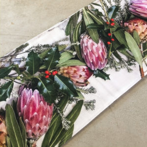 Protea Table Runner (Festive Flora)