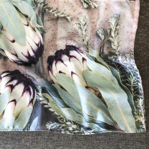 Protea Tea Towel (Rusted Sage)