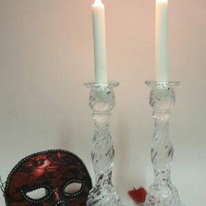 Celeste Glass Candle Holder