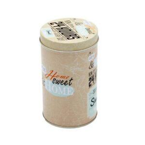 Cylinder Tin Home Sweet Home Print