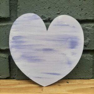Wooden Heart – Painted Purple